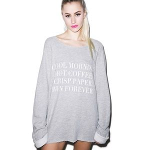 Wildfox   Run Forever Morning Sweatshirt